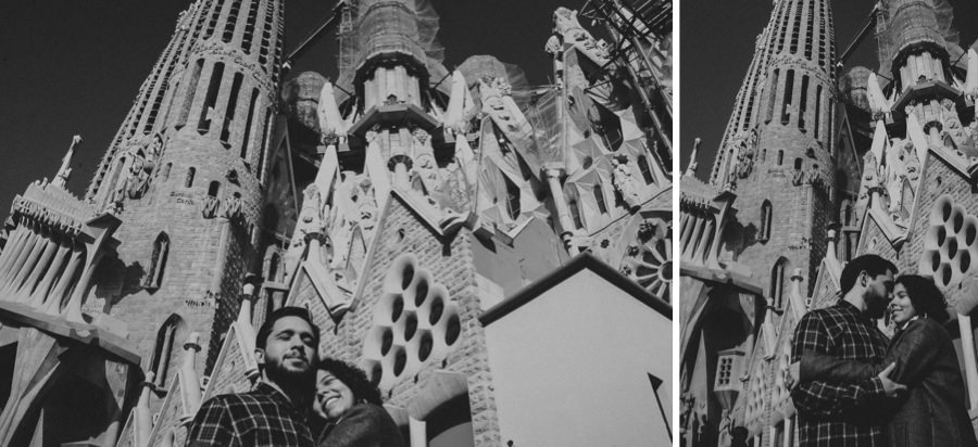Couple in La Sagrada Familia